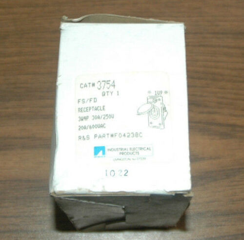 RUSSELLSTOLL RECEPTACLE 3W4P 30A//250V PART NUMBER 3754