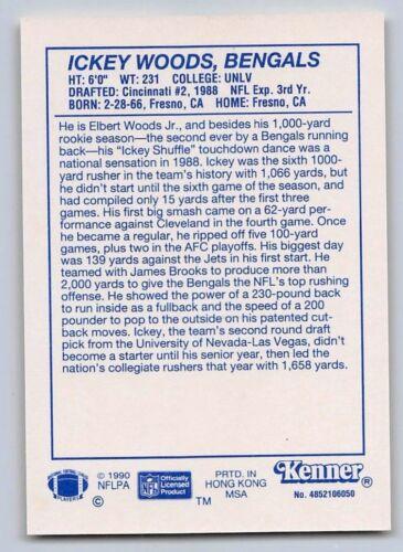 CINCINNATI BENGALS - 1990  ICKEY WOODS Starting Lineup Card Yellow SLU