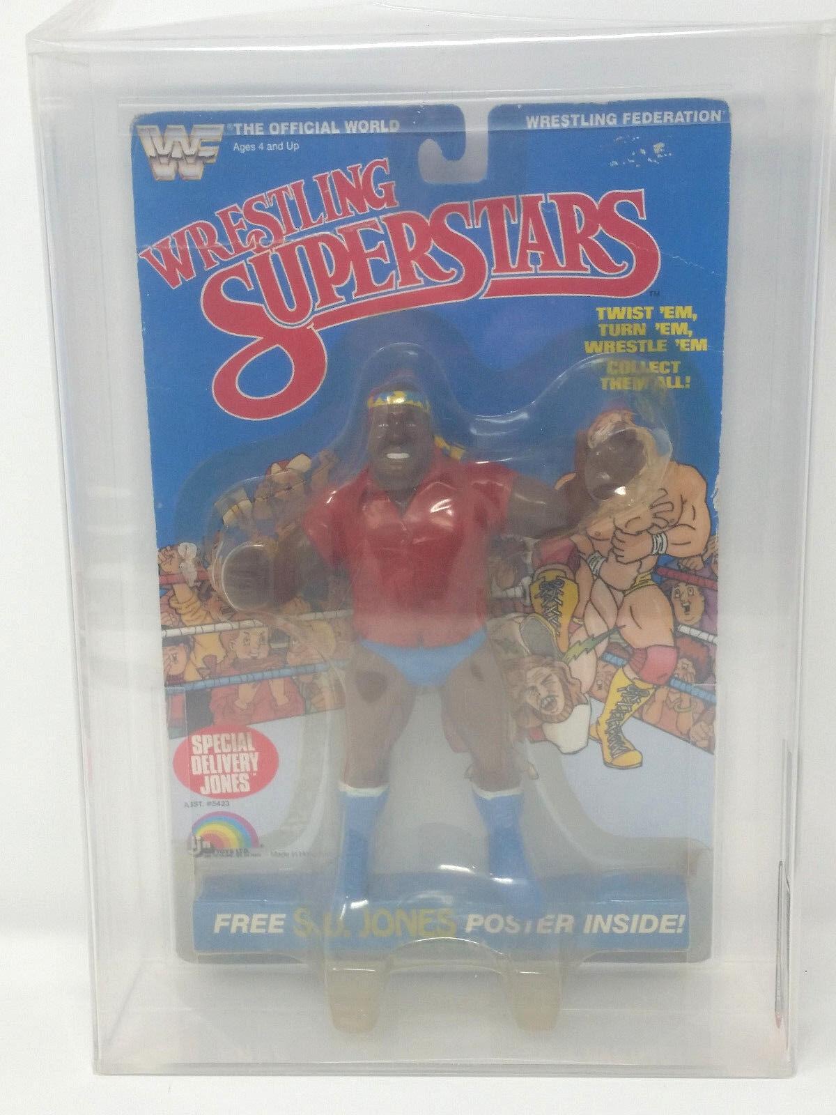 1986 LJN WWF WRESTLING SUPERSTARS SPECIAL DELIVERY JONES SERIES 3 AFA 40 Y