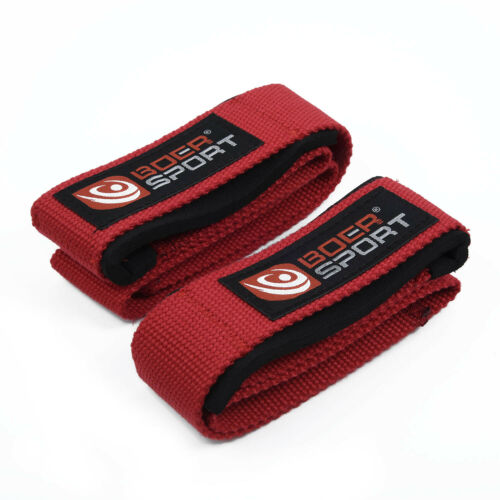 Padded Weight Lifting Gym  Training Workout Hand Bar Straps Support Wrist Wraps