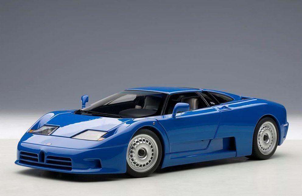 1 18 Autoart Bugatti Eb110 Gt 1991 bluee bluee