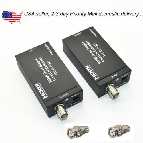 Coaxial Cable Extender : Hdmi over single ohm rg u coax cable extender balun