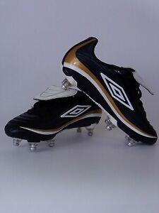 Garcons-Umbro-Vortex-Football-Bottes-Chaussures-Taille-UK-2-Noir-or-Blanc-11-JSG