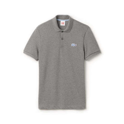 Lacoste Live Ultraslim Fit Polo Blue Logo # PH8602 51 S42 Grey Men SZ S XL