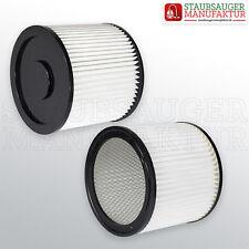 2 x Filter passend für Fam POWERVAC XL Dauerfilter Rundfilter Lamellenfilter