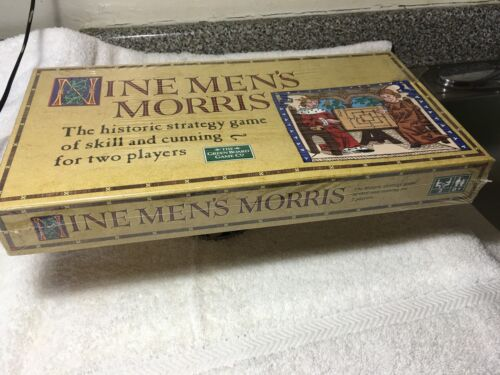 Nine Men's Morris The Historic Strategy Game Of Skill And Cunning For Two Player