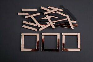 Mosaic Rose Gold Mirror Glass Strips Art Craft 4 X 0 5 Cm 2 Mm 50 Pcs Ebay
