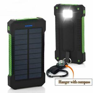 Banco De Energía Solar Cargador Solar De 20000mAh Batería Externa Powerbank Impermeable