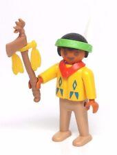 Playmobil Figure Western Indian Boy Child Necklace Headband Tomahawk 3396
