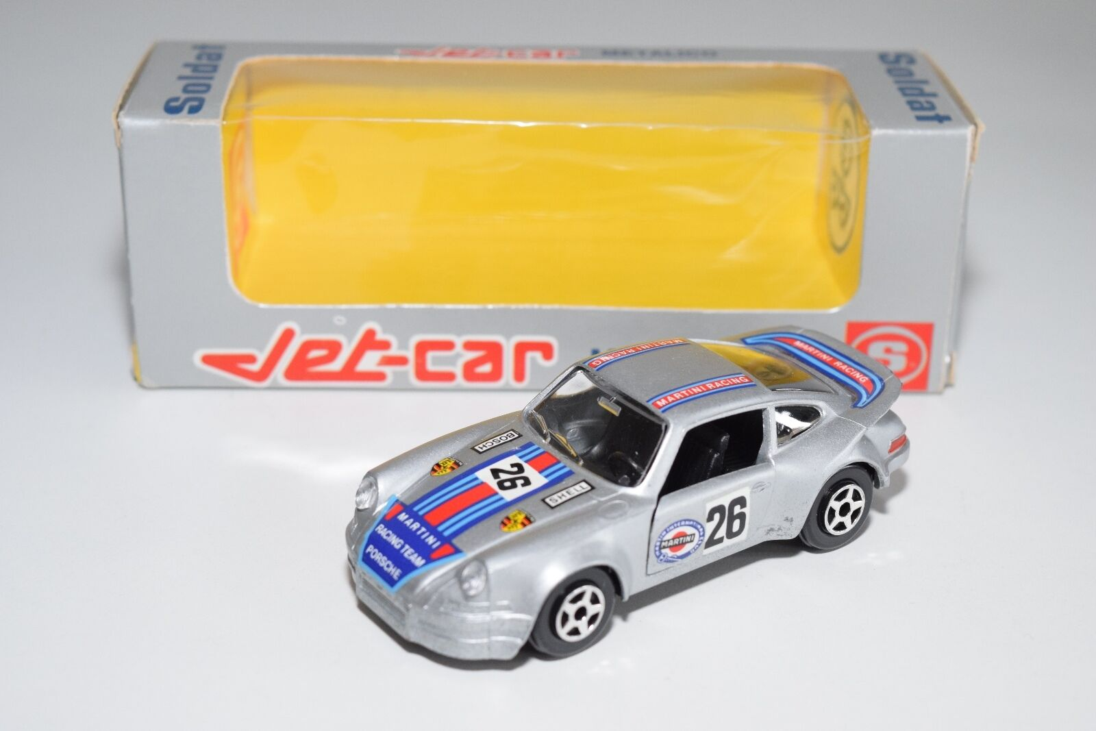 + NOREV JET-CAR SOLDAT SPANISH BOX 839 PORSCHE CARRERA RSR MARTINI MINT BOXED