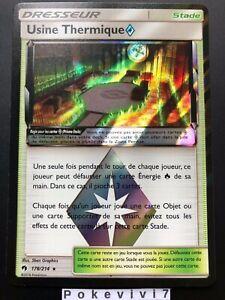 Carte-Pokemon-USINE-THERMIQUE-178-214-Holo-PRISME-Soleil-et-Lune-8-SL8-FR-NEUF