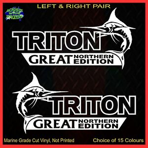 TRITON-4x4-stickers-accessories-Ute-Car-MX-Funny-decal-GREAT-NORTHERN-200mm-PAIR