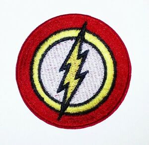 The Flash Super Hero Logo Dc Comics Embroidered Iron Sew On Patch