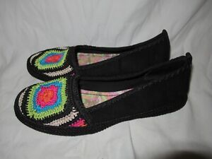 The Sak Shoes Loafers Woven Crochet
