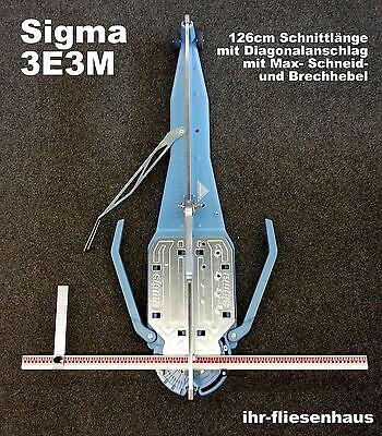 Sigma Profi Fliesenschneider 3E3M 126cm Neue Brechhebel Version, Max m. Diagonal