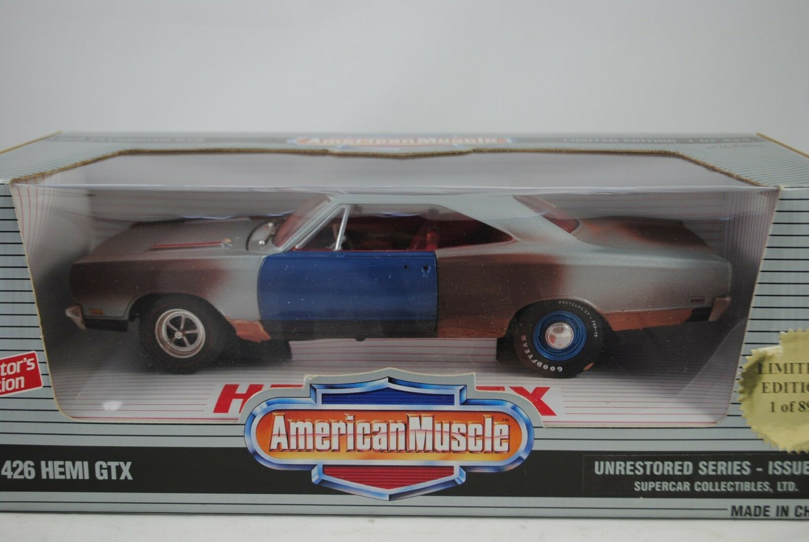 1 18 Ertl 1969 Plymouth 426 Hemi GTX Unrestorosso Series Lmtd.1 Of 899 Rareza