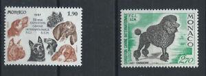 Monaco-N-1575-76-MNH-1987-Exposition-canine