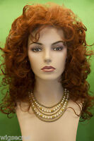 Red Long Medium Curly Wigs