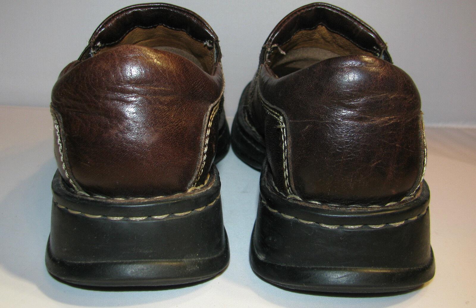BORN BROWN LEATHER SLIP SLIP SLIP ON COMFY Scarpe SZ 8M - EUC 351749