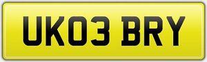 UK03-BRY-PRIVATE-REG-NUMBER-PLATE-Bryan-Brian-Bridey-Bryant-Bridie-Briony-Bryony
