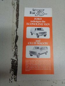 1975 Ford Van Dealer mailer Foldout Brochure 75 Econoline ...