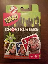 Mattel UNO Ghostbusters Card Game w/ 4 Customizable Cards, Create Your Own Rules