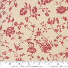"""Moda Pondicherry Pearl Red 108"""" Wide Quilt Backing Fabric By The Yard"""