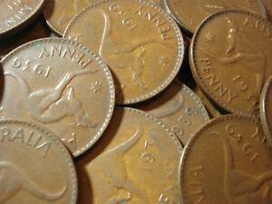 Details about Australian 1939 Penny Coin Copper Antique Fine To Very Fine
