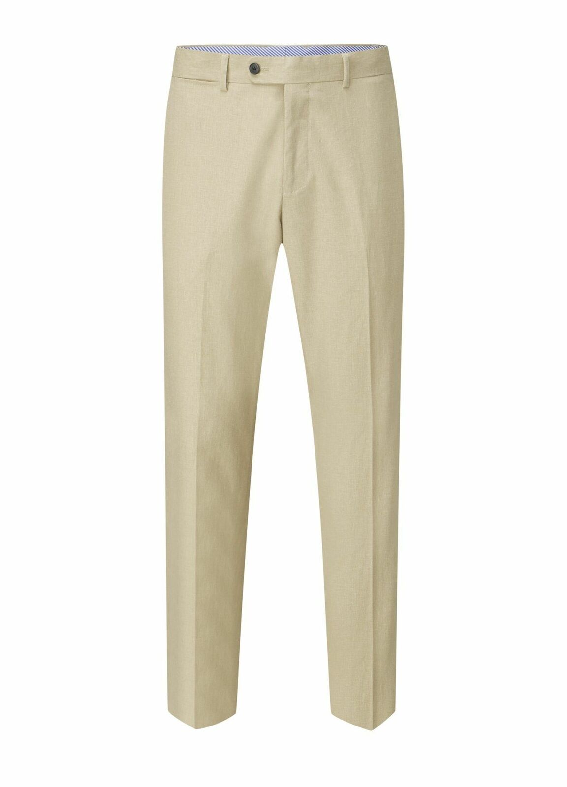 SKOPES Mens Linen Blend Suit Trousers in Stone (Morant)