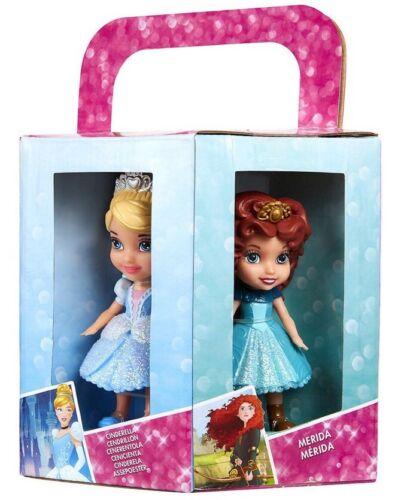 MERIDA Raiponce Aurora Cendrillon Disney Princesse Lot de 6: Ariel Belle