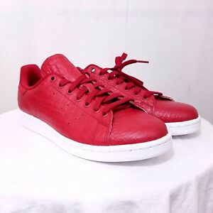 new style 2440e 06cca Image is loading Adidas-Originals-Stan-Smith-Mens-Tennis-Shoes-Reptile-