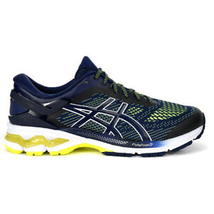 ASICS Men's Gel-Kayano 26 Peacoat/Safety Yellow Running Shoes 1011A541.403 NEW