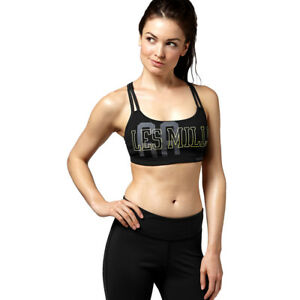 f8d0d76567 Reebok Les Mills DT Bra Sports Bra Training Running Gym Top PlayIce ...