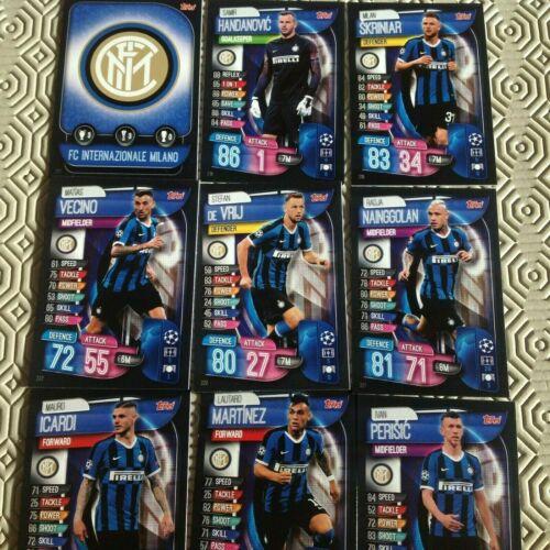 Match Attax 2019//20 full team set ** FC internazionale milano ** 9 cartes