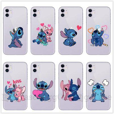 For Apple iPhone 11 Pro Max XS 8 Blue Stitch Cute Cartoon Case Cover Soft Cover | eBay