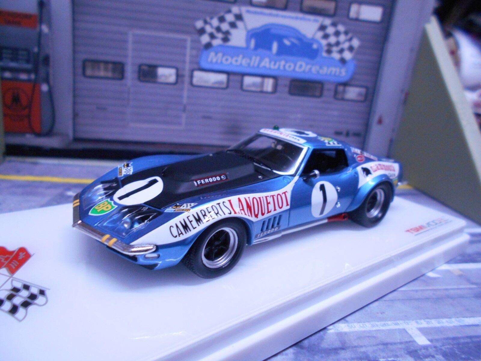 Chevrolet Corvette c3 Le Mans 1971  1 Leopard BP Mammouth lanque Resin TSM 1 43