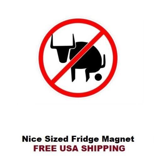 No BS Warning Sign Fridge Refrigerator Magnet 156