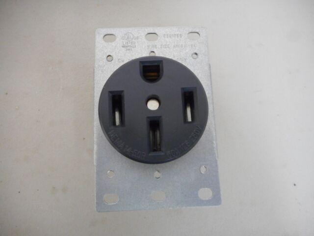 Cobra Electric 50amp 250v 4 Wire Range Receptacle Female Stove Plug