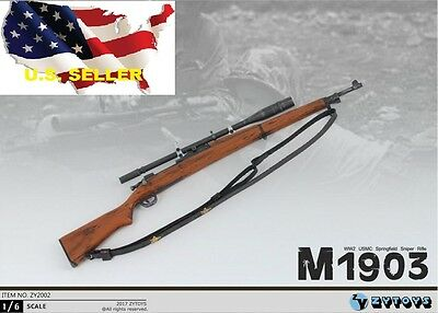 1:6 Scale Figure Accessory Vintage Pirate WWII Springfield Rifle Gun Model Toy