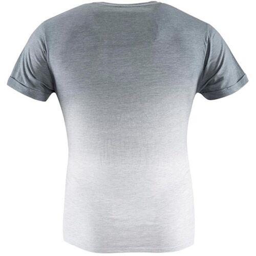 FC Schalke 04 T-Shirt Skyline Auf Kohle geboren Shirt veredelt grau