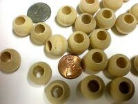 300 Quantity Round Wood Bead 5/8 Inch With 5/16 Hole