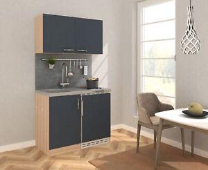 Cucina Mini Cucinino Blocco 100 cm Rovere Ruvido-Segato Grigio ...