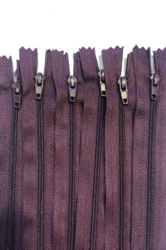No.3 Purple Nylon Closed End Cushion Zips 36cm//46cm Packs of 10//25//50//100