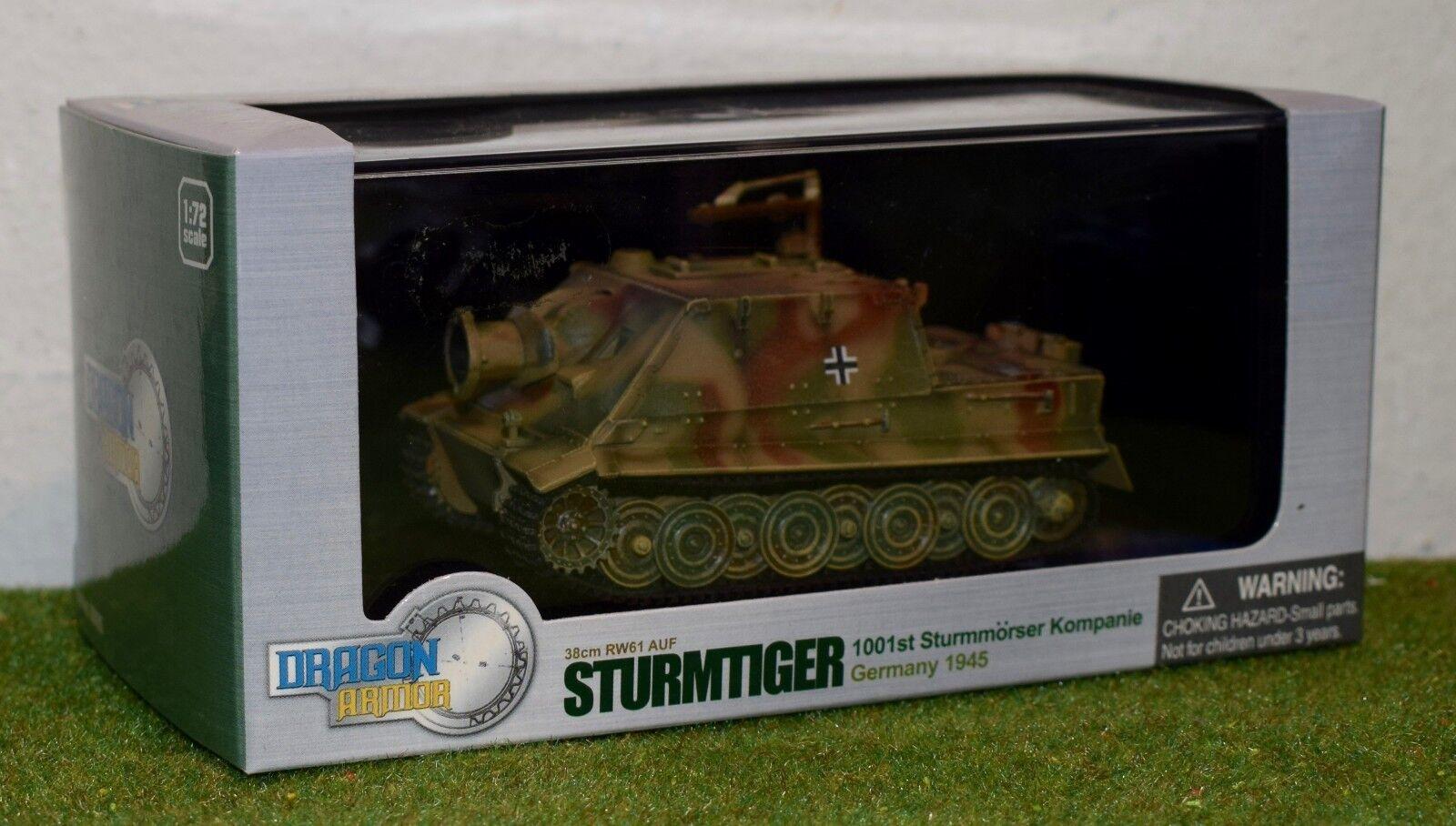 DRAGON ARMOR 1 72 SCALE WW II GERMAN STURMTIGER 38cm RW61 AUF GERMANY 1945 60026