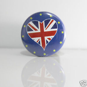 Simple 2 Badges Europe [25mm] Pin Back Button United Kingdom