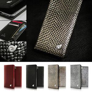 Snake-Genuine-Leather-Swarovski-Zip-Wallet-Flip-Case-Cover-for-iPhone-6-S-Plus-X