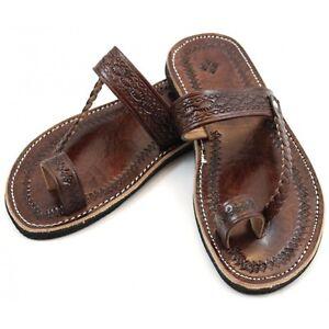 Sandales-marocaines-en-cuir-marron-leather-sandals-flip-flop