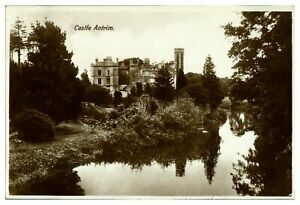 Antique-RPPC-real-photograph-postcard-Castle-Antrim-Northern-Ireland