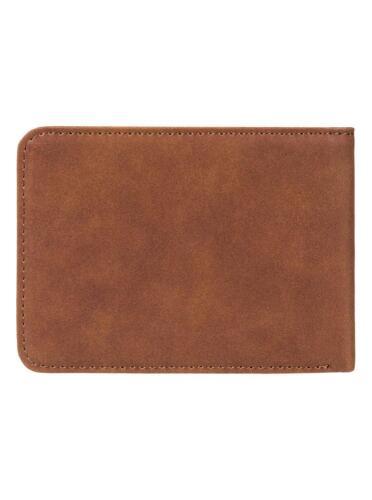 Quiksilver Portafoglio da uomo NUOVO Slim Vintage In Finta Pelle Borsetta Tan Brown 8S 649 cpyo