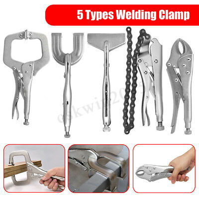 Welding Locking C CLAMPS Quick Release Mole Vice Grip Pliers Metal Sheet Working